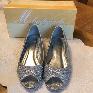 Davids bridal wedding 7.5 7 1/2 Ajustinio shoes